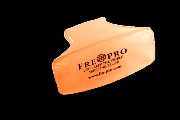 FrePro BowlClip Lufterfrischer für Damen Toiletten, Mango (orange). Inhalt: 1 Stück